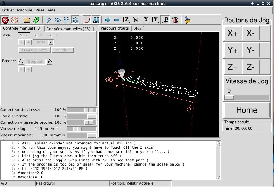 [tutoriel]Presentation et installation de LinuxCNC Pyvcp