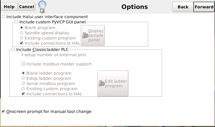 [tutoriel]Presentation et installation de LinuxCNC Stepconf4
